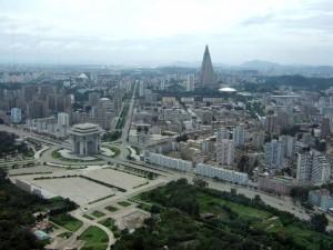 Pchjongjang panorámu