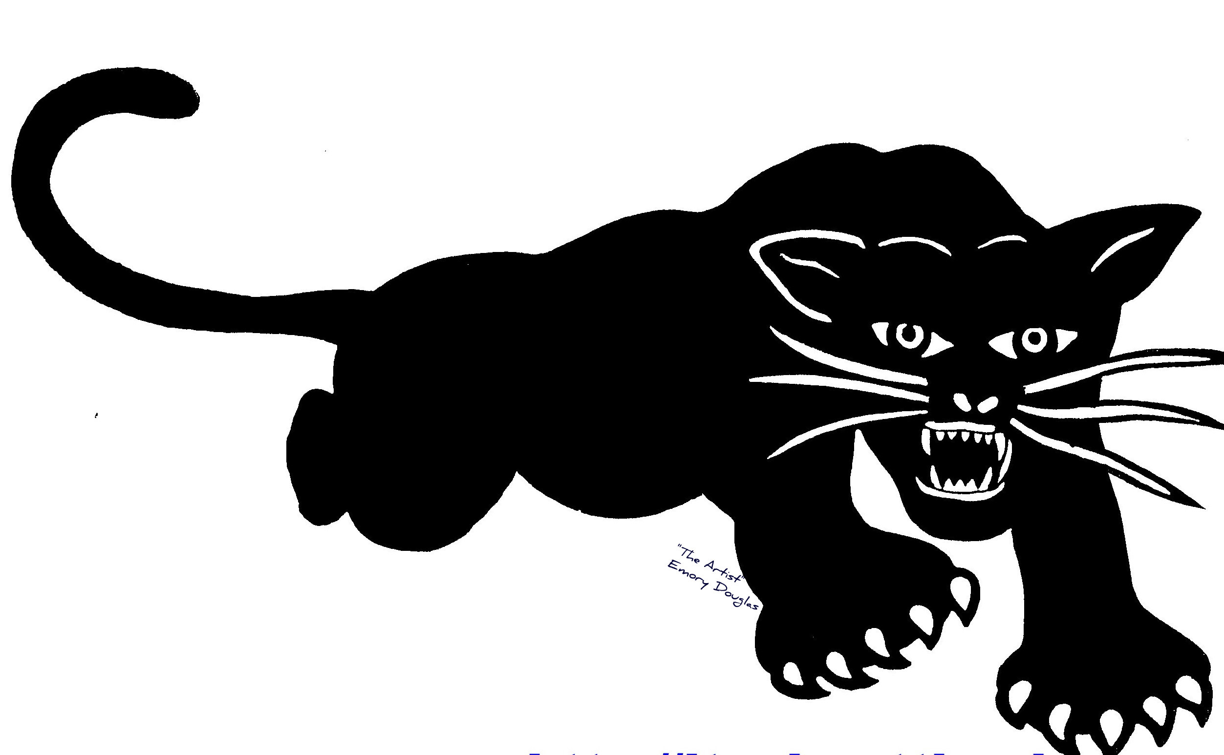 Black panther party logo tattoo - photo#17